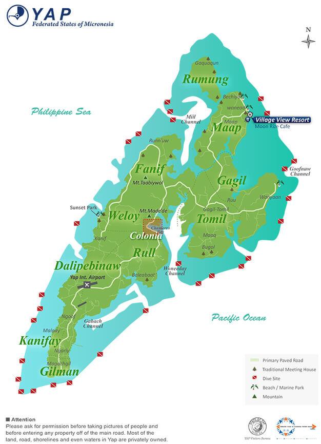 Wanyaan Beach Snorkeling Map
