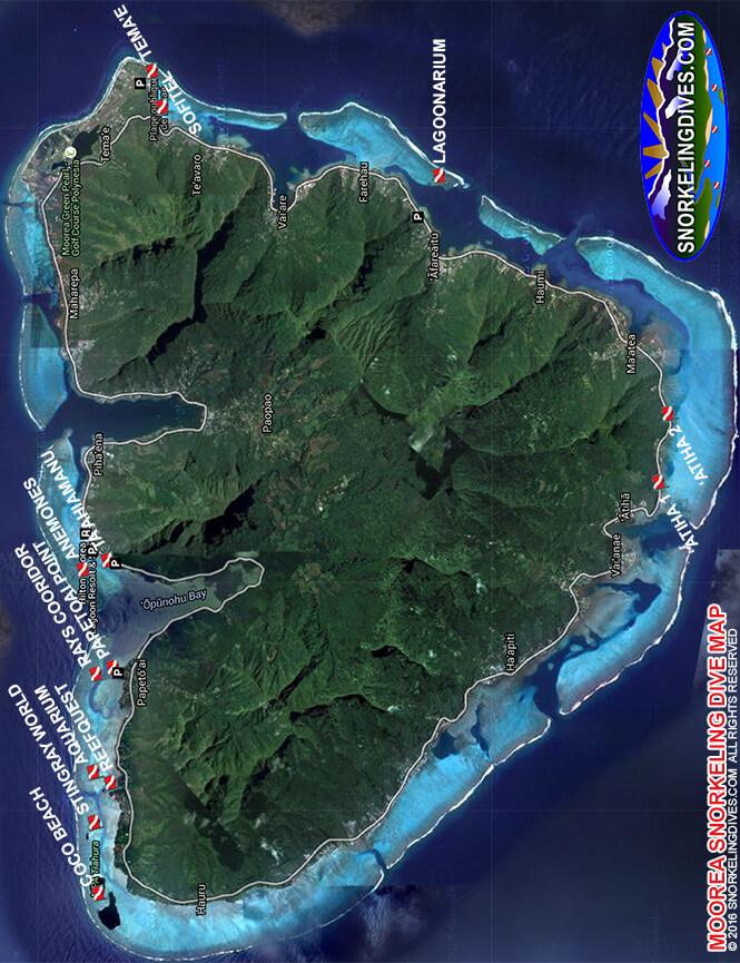 Moorea Snorkeling Map
