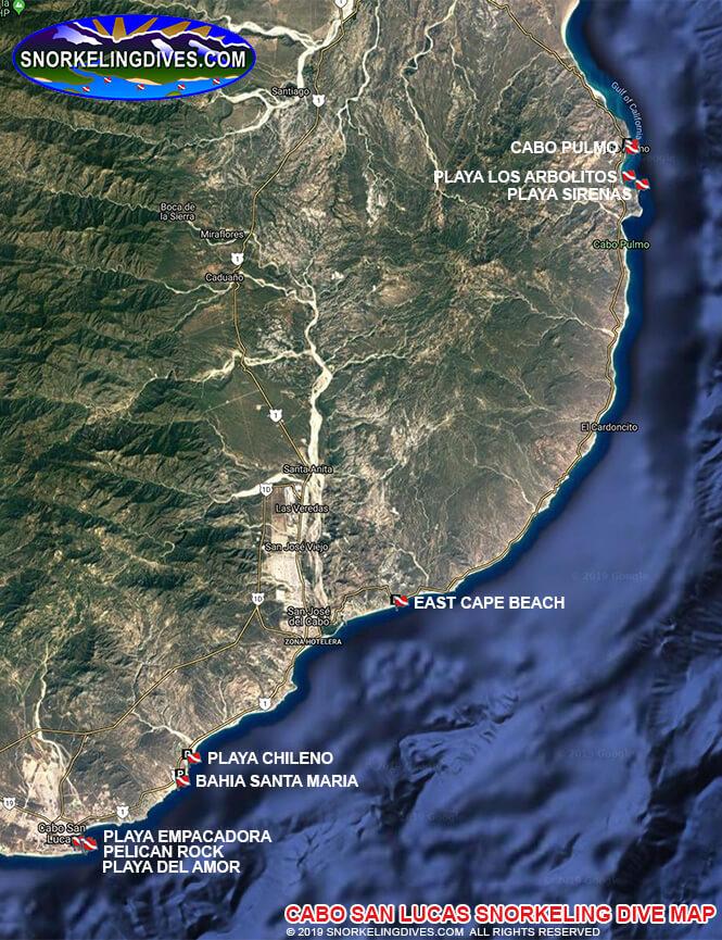 Cabo San Lucas Marine Park Snorkeling Map