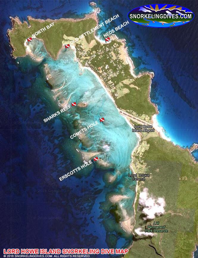 North Bay Snorkeling Map