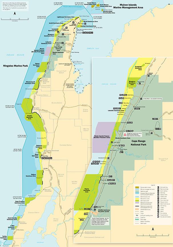 Ningaloo Reef Snorkeling Map