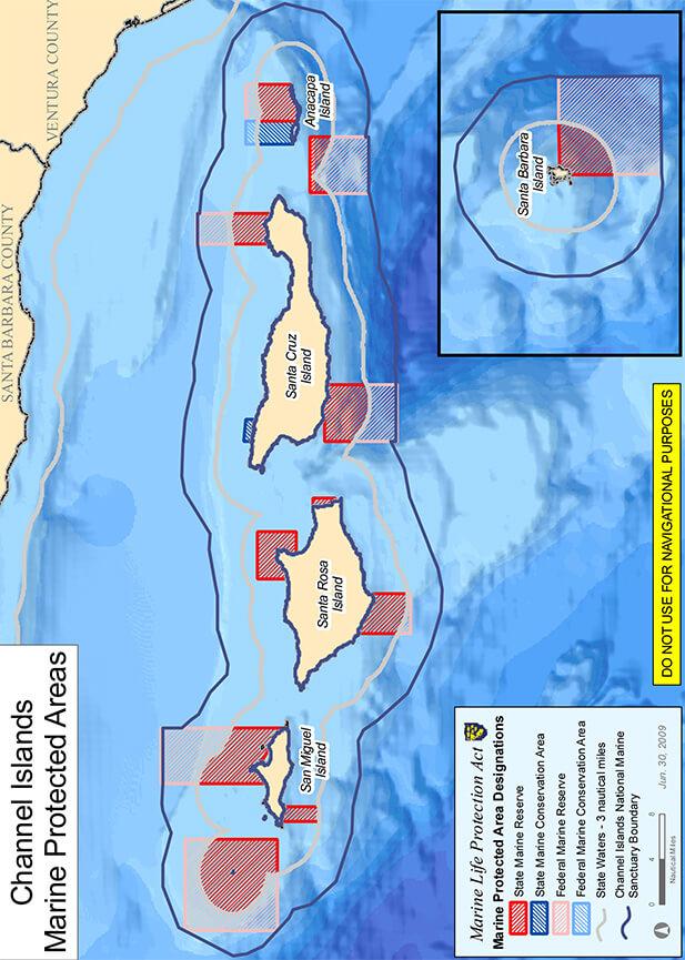 Santa Barbara Island Snorkeling Map