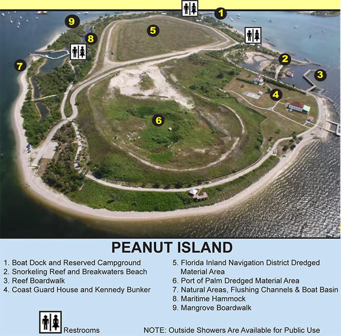 Peanut Island Snorkeling Map