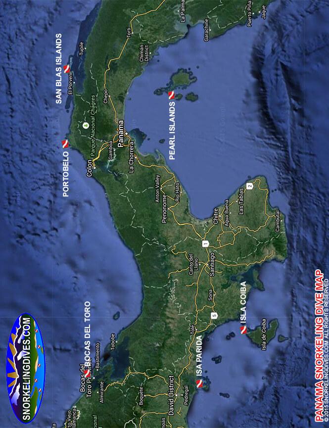 Isla Coiba Snorkeling Map