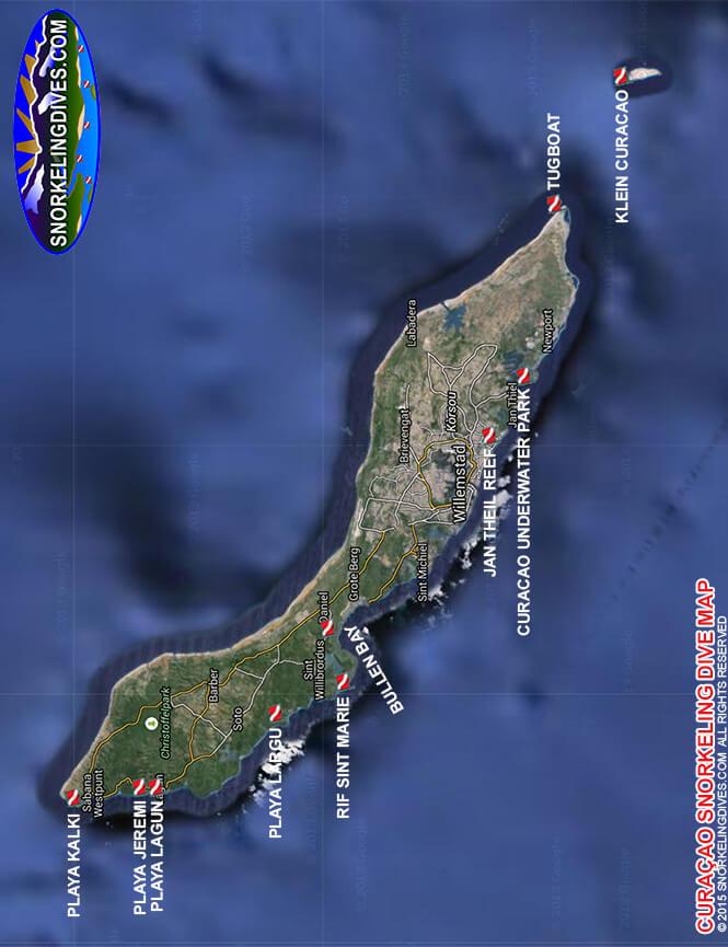 Curacao Underwater Park Snorkeling Map