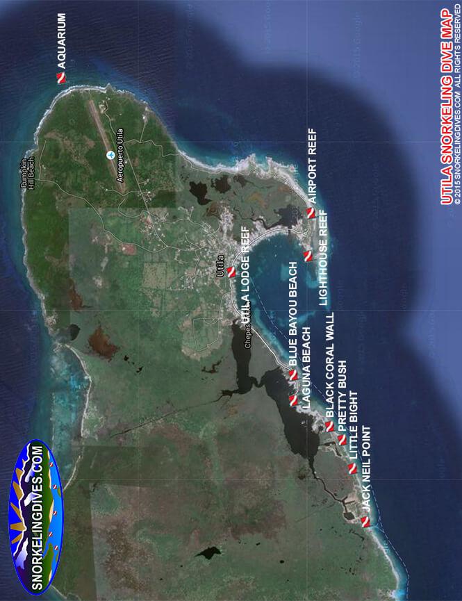 Airport Reef Snorkeling Map