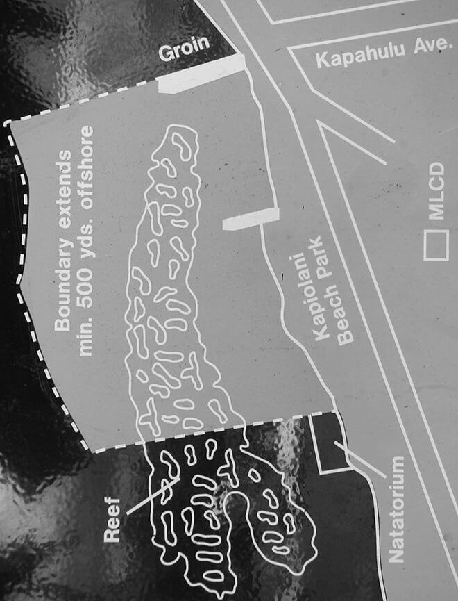 Kapiolani Park Beach Snorkeling Map