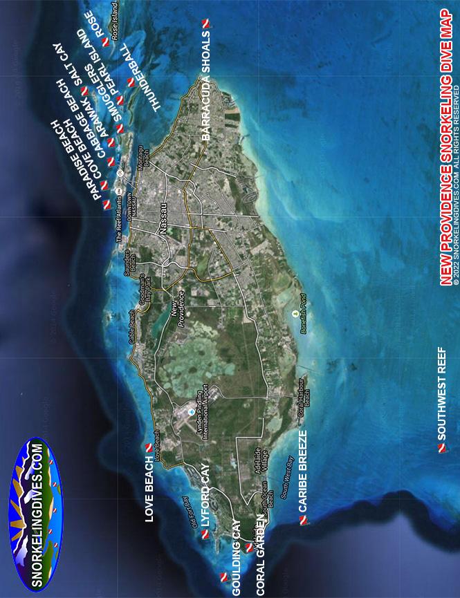 Rose Island Snorkeling Map