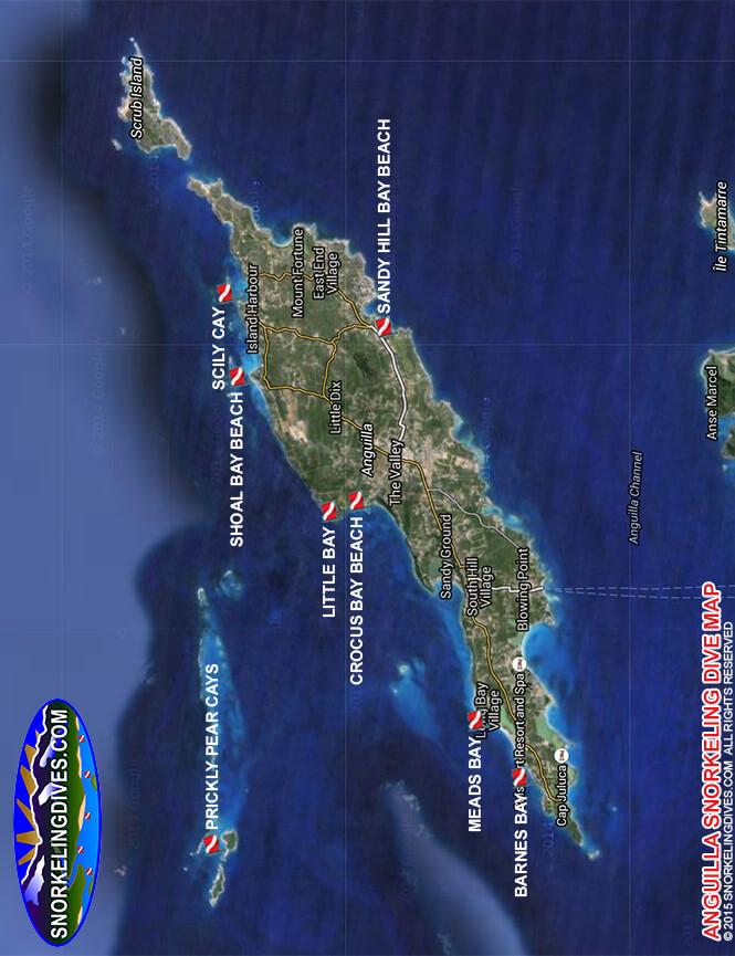 Sandy Hill Bay Beach Snorkeling Map