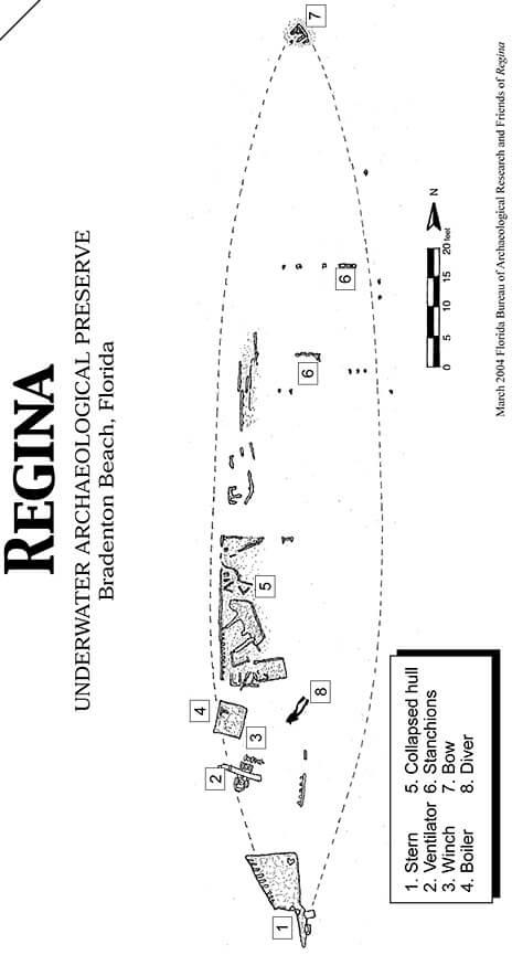 Regina Underwater Preserve Snorkeling Map