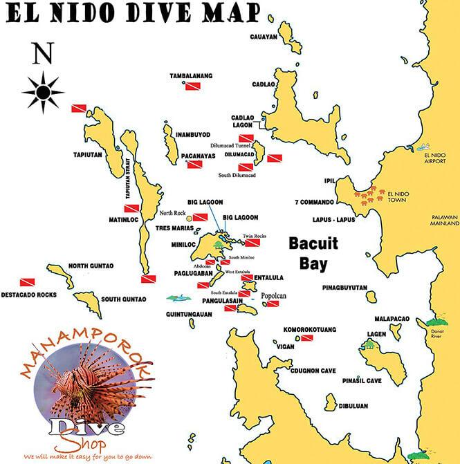 El Nido Snorkeling Map