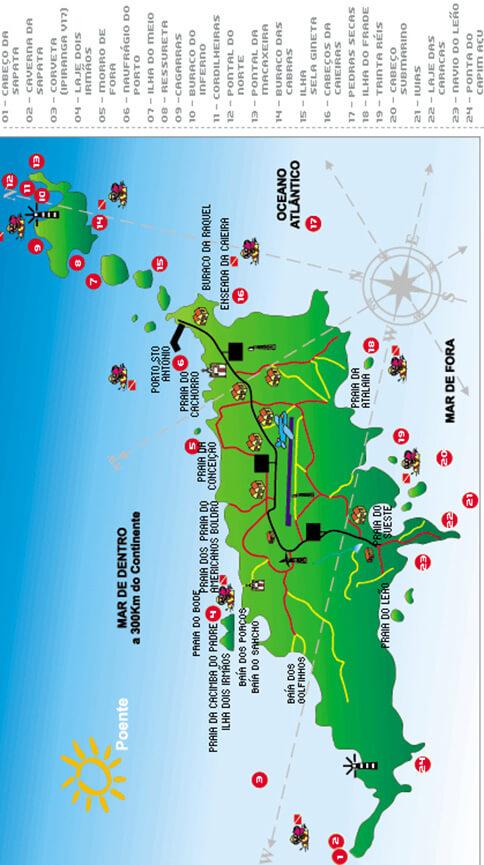 Fernando de Noronha Marine National Park Snorkeling Map