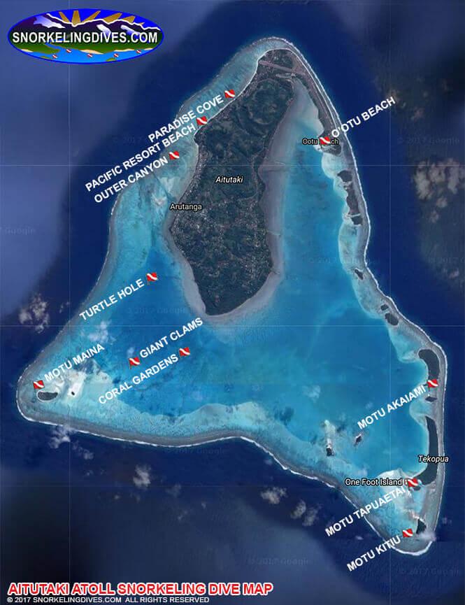 Aitutaki Atoll Snorkeling Map