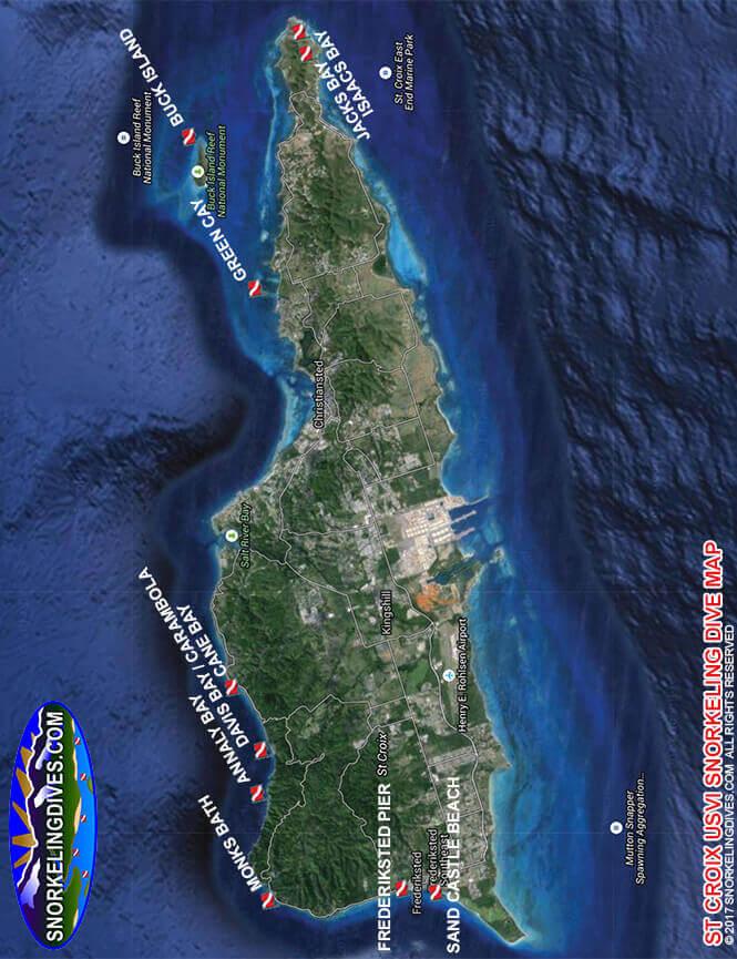 Davis Bay / Carambola Snorkeling Map