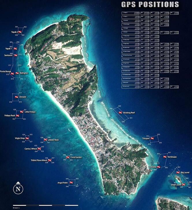 Boracay Island Snorkeling Map