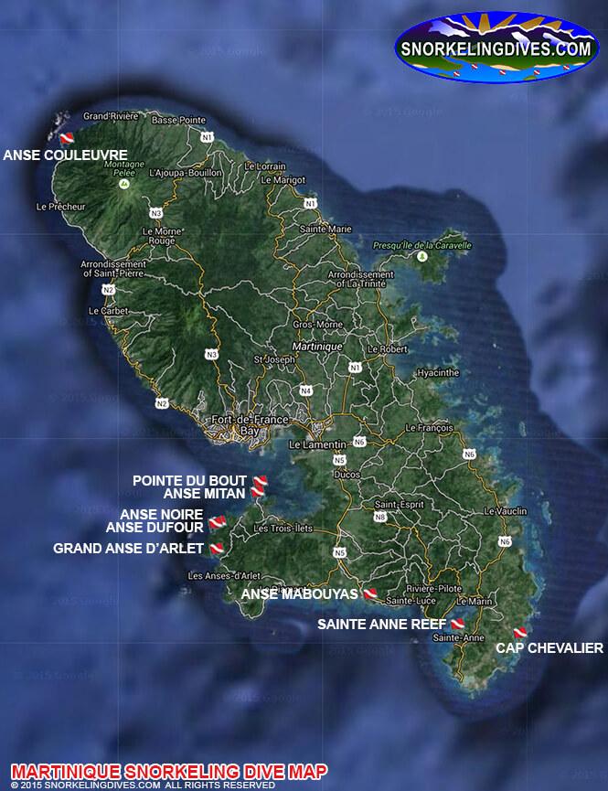 Anse Mabouyas Snorkeling Map