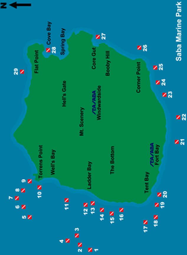 Hot Springs Snorkeling Map