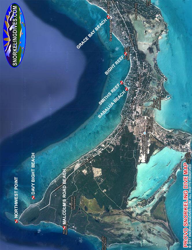 Malcolms Beach Snorkeling Map