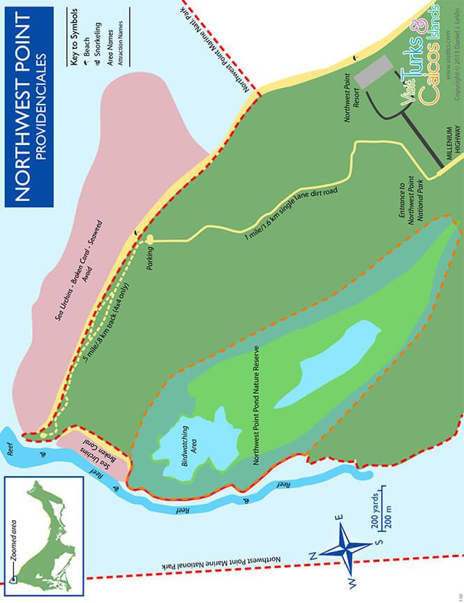 Northwest Point Snorkeling Map