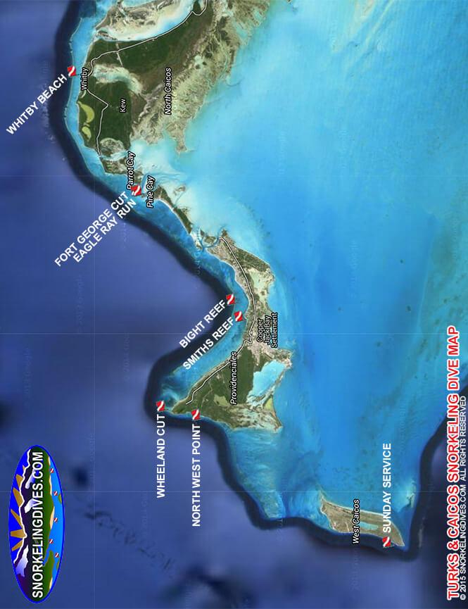 Eagle Ray Run Snorkeling Map