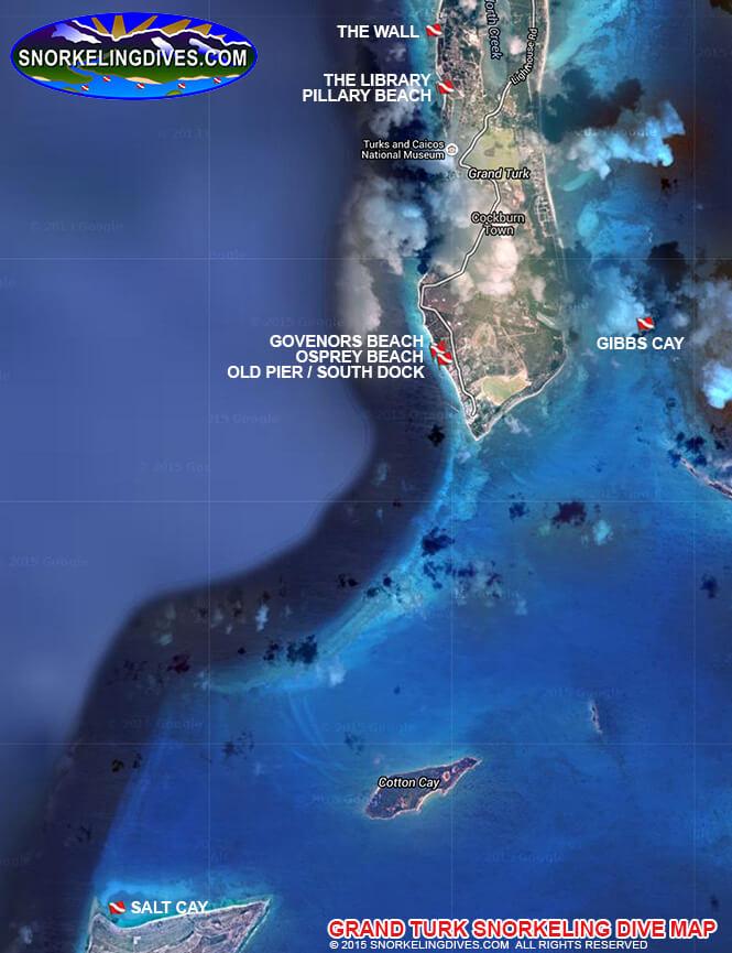 Salt Cay Snorkeling Map