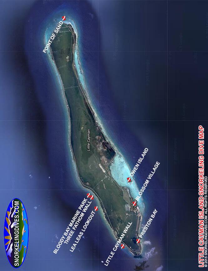 Little Cayman Wall Snorkeling Map