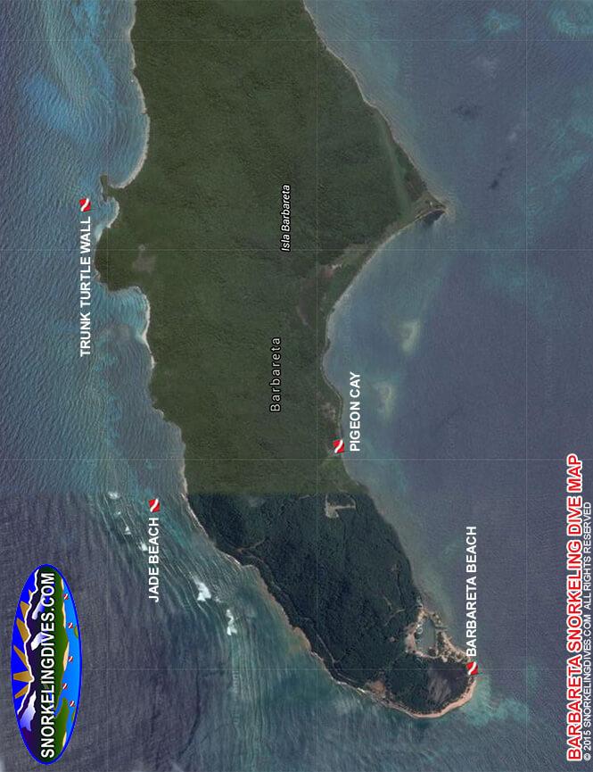 Barbareta Beach Snorkeling Map