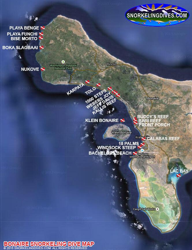 Playa Funchi Snorkeling Map
