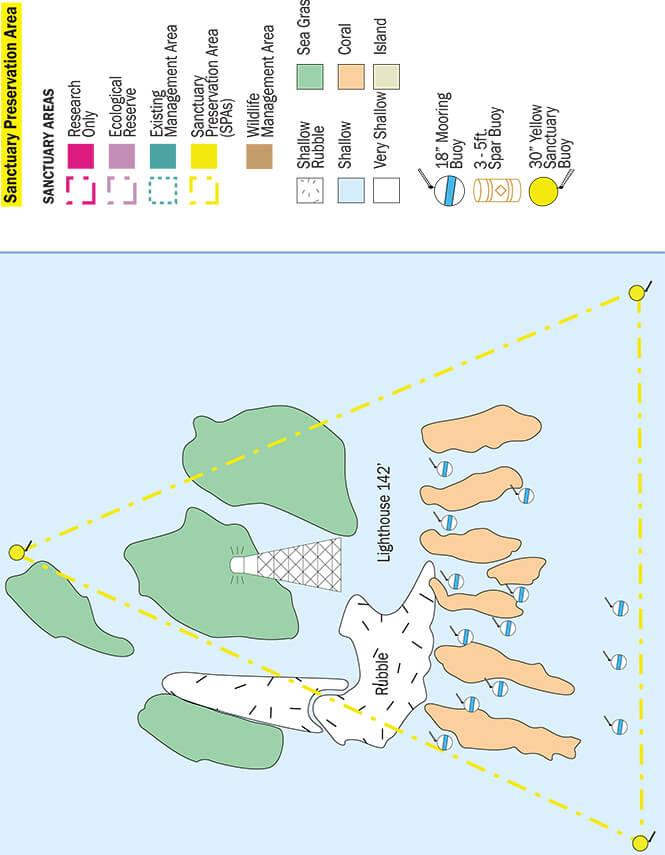 Sombrero Reef Snorkeling Map