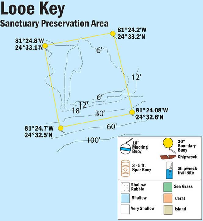 Looe Key Snorkeling Map