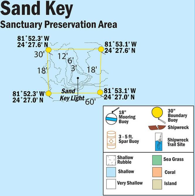 Sand Key Snorkeling Map