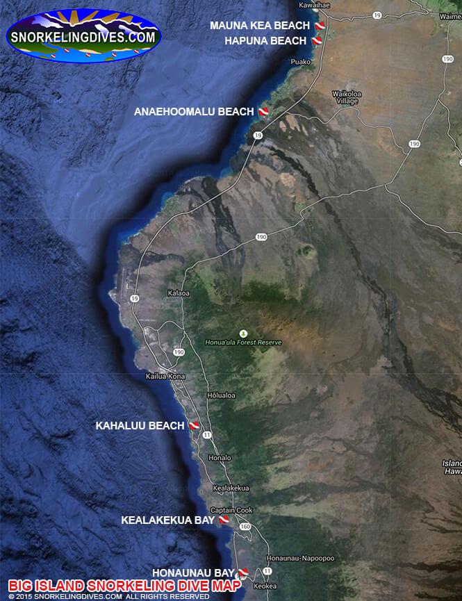 Kapoho Tidepools Snorkeling Map