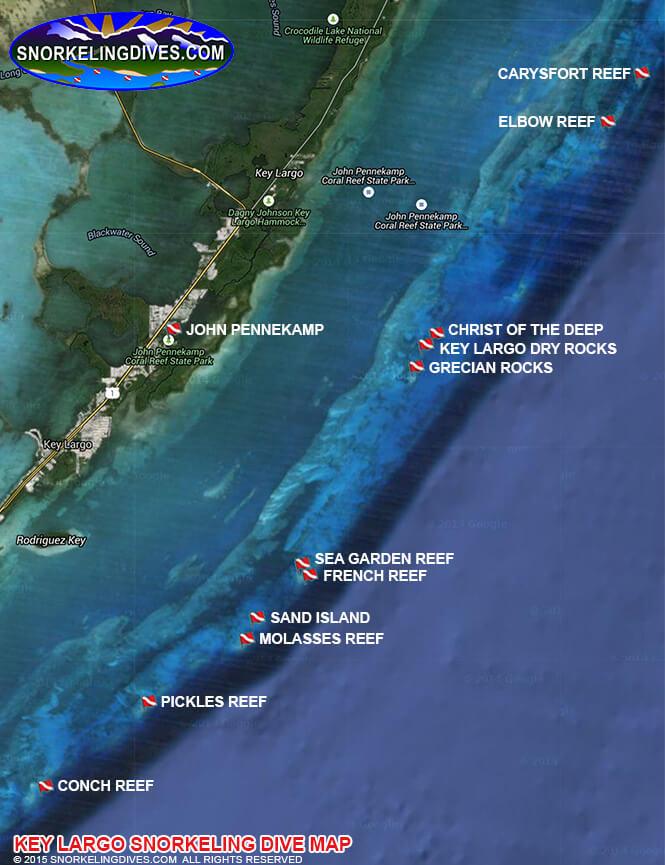 Pickles Reef Snorkeling Map