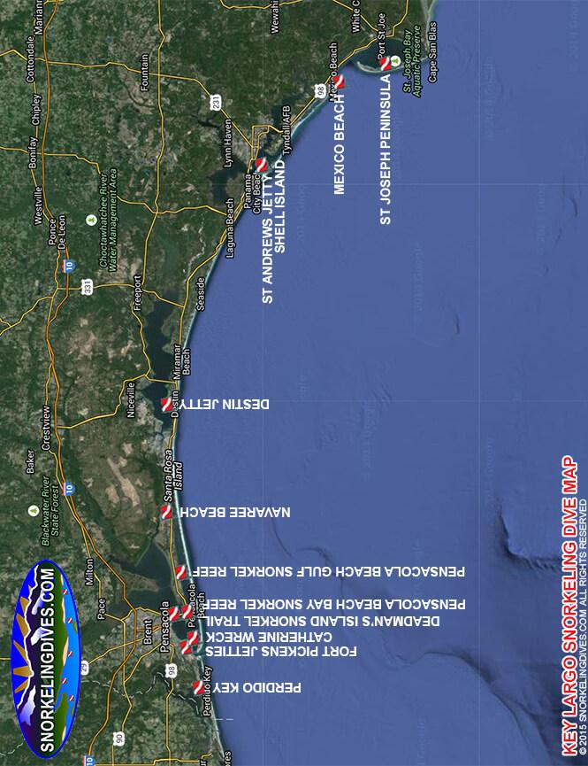 Shell Island Snorkeling Map