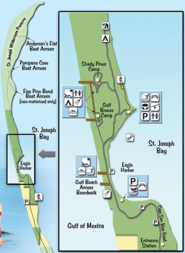 St Joseph Peninsula State Park Snorkeling Map