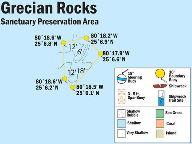Grecian Rocks Snorkeling Map