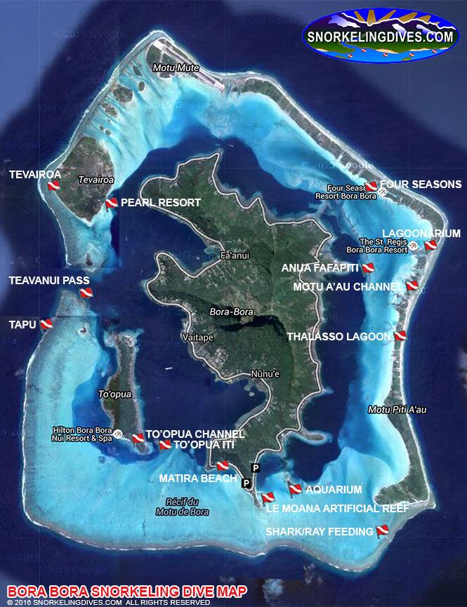 Bora Bora Snorkeling Map