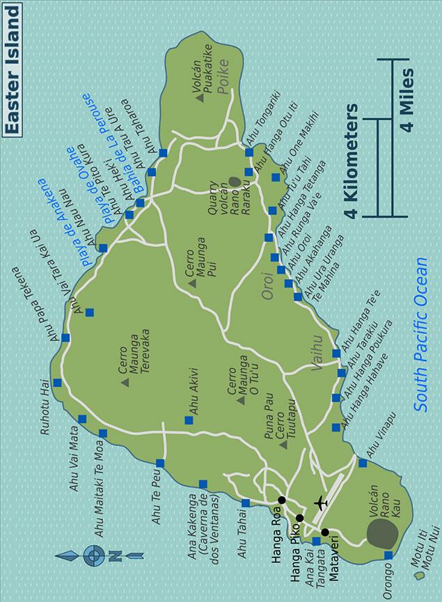 Rapa Nui Snorkeling Map