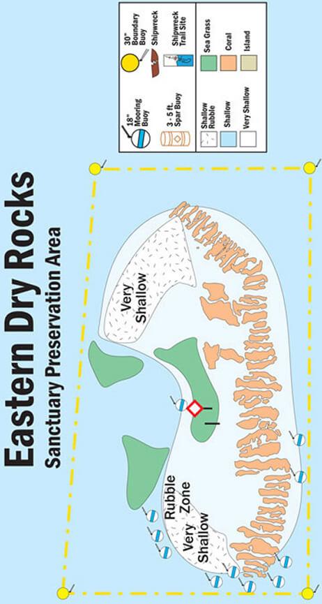 Dry Rocks Snorkeling Map