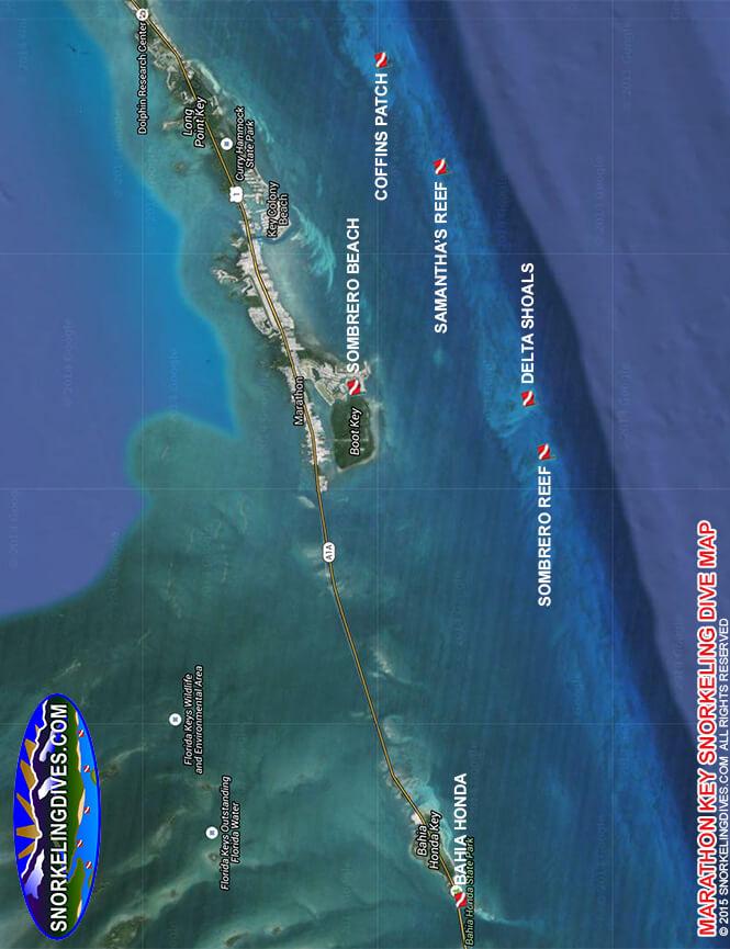 Newfound Harbor Reefs Snorkeling Map