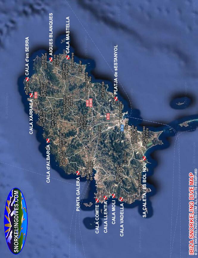 Ibiza Snorkeling Map