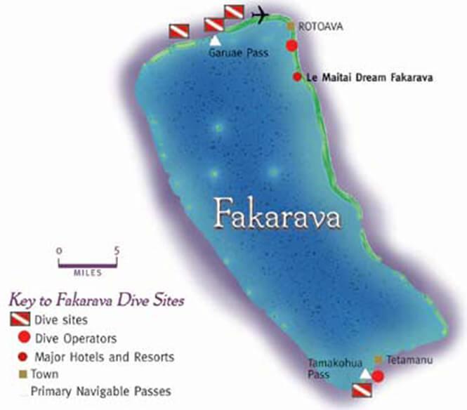 Fakarava Snorkeling Map