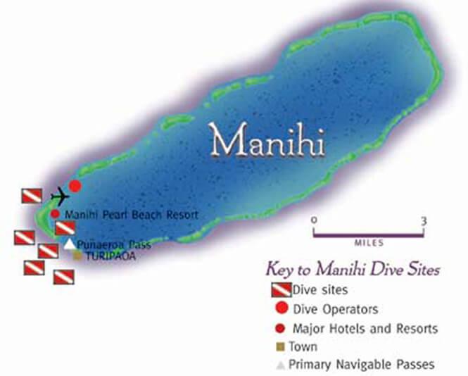 Manihi Snorkeling Map