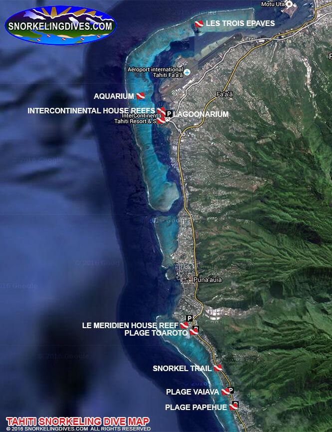 Tahiti Snorkeling Map