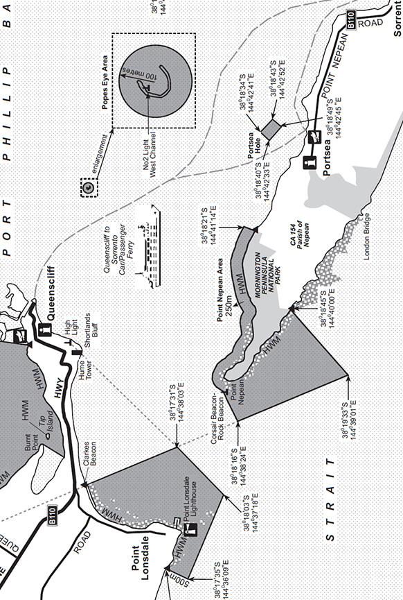 Port Phillip Bay Snorkeling Map