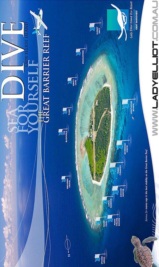 Lady Elliot Island Snorkeling Map