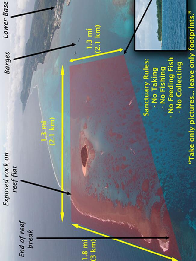 Managaha Beach Snorkeling Map
