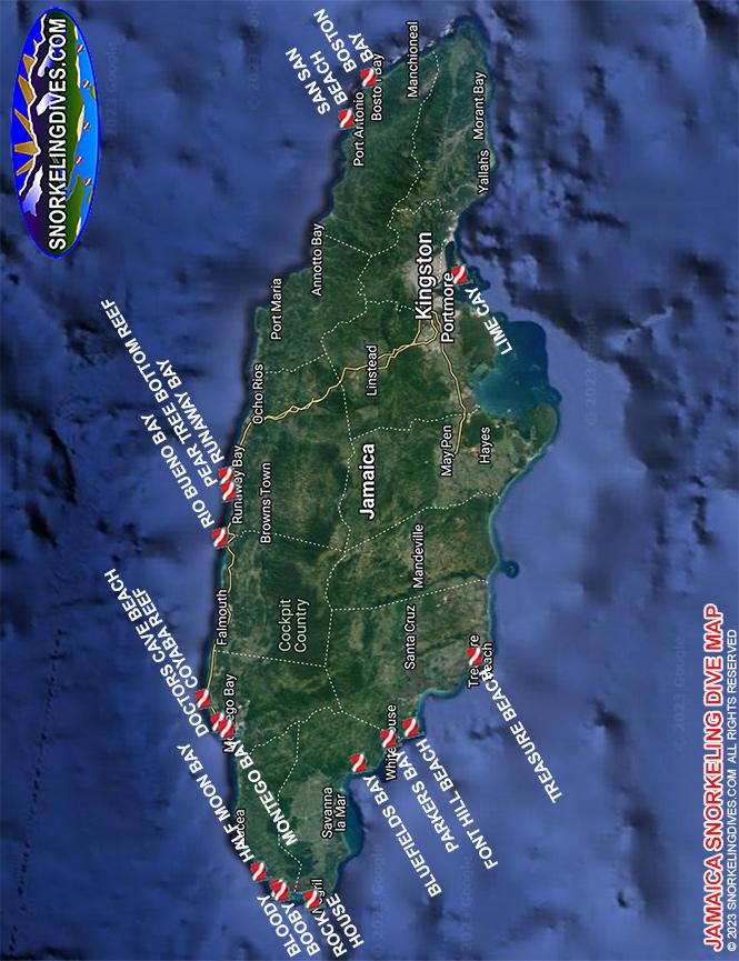 San San Beach Snorkeling Map