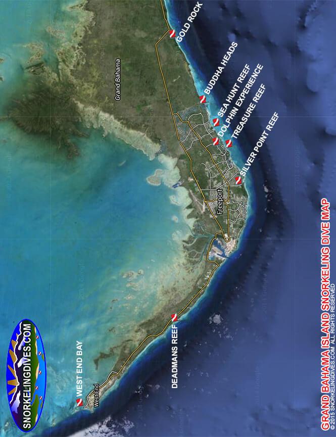 Treasure Reef Snorkeling Map