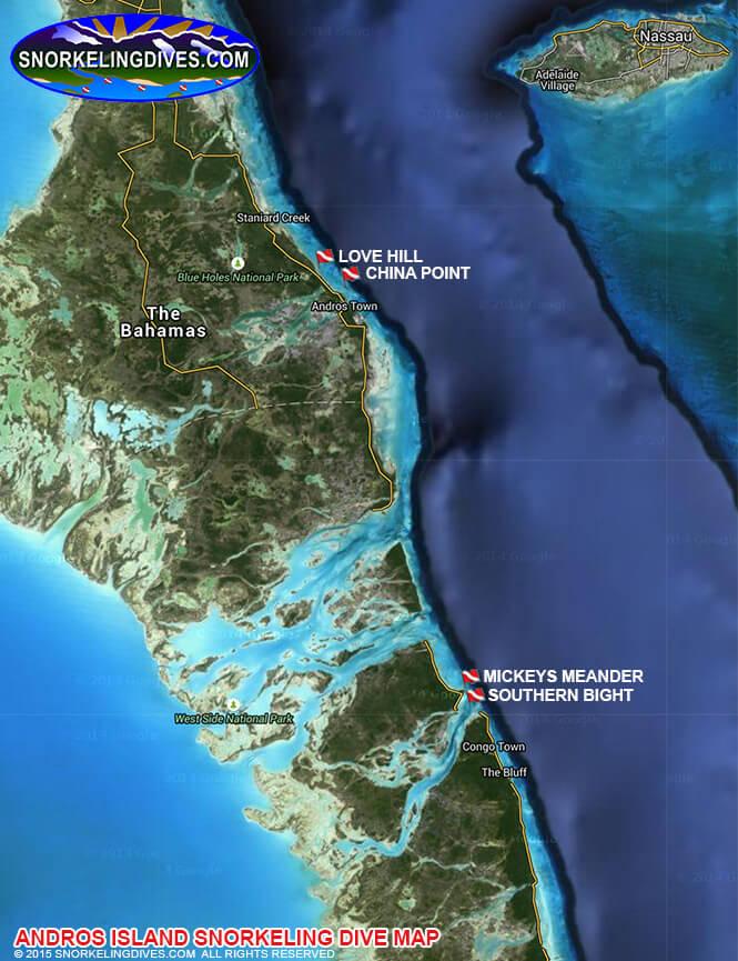 Lovehill Snorkeling Map